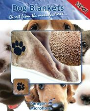Dog Blanket, super soft, microfibre, ultra warm, cosy and very thick. 2 sizes.