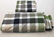 Pottery Barn Teen Plaid Duvet Set Full/Queen With One Pillow Sham All Cotton F/Q