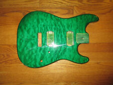 MIGHTY MITE BODY FITS FENDER STRATOCASTER 2 3/16th GUITAR NECK NATURAL QUILT TOP