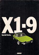 Fiat X1/9 1300 Special Series 1977 UK Market Sales Brochure