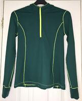 FABLETICS Nara Half Zip Hoodie Rainforest Green Citron Size S Running Sports