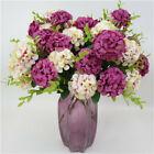10 Heads Artificial Silk Hydrangea Fake Flowers Bouquet Bunch Party Home-decor