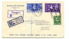 MOROCCO AGENCIES - TANGIER 1946 VICTORY FDC