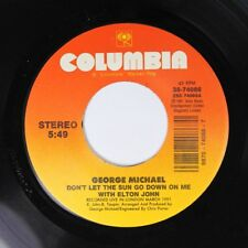 Pop 45 George Michael - Don'T Let The Sun Go Down On Me / I Believe On Columbia