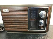 Vintage  Sony AM/FM 2 Band Radio Fidelity Sound  ICF-9630W   Working