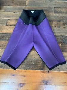Vintage PATAGONIA Wetsuit Shorts -Medium- Black & Purple -USA Made- Great Shape!