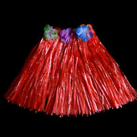 Kids Boys Girls Hawaiian Hula Grass Beach Skirt Flower Party Dress hc