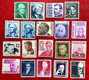 US SC #1278-1295 Prominent Americans Series 1966-79 Complete Set 20