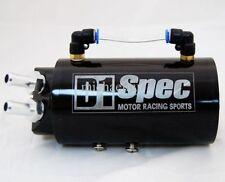 Oil catch tank ou Recuperateur d'huile 0.5 Litre modele D1 Spec NOIR rond NEUF