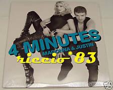"Madonna 4 Minutes 2x 12"" MIX 2 LP VINILE DOPPIO JUSTIN"