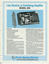 "Vintage ""Ap"" Amplifiers Advertising Sales Sheets: 4 Different"