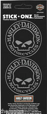 HARLEY DAVIDSON MOTORCYCLES WILLIE G. SKULL DOUBLE USA MADE STICKER DECAL