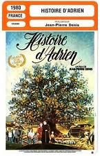 FICHE CINEMA : HISTOIRE D'ADRIEN - Sautereau,Denis 1980 Adrien's Story