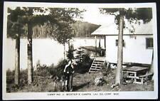 Canada~1950 LAC DU CERF QUE~CAMP # 2~WESTER'S CAMP~RPPC