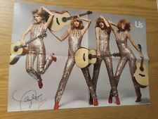 Taylor Swift Poster Us Magazine 14.5''x21'' Four Side-By-Side Guitar Gold Music