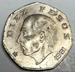 # C7952    MEXICO  COIN,     TEN  PESOS   1981