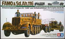 TAMIYA 35246 FAMO (zugkraftwagen 18T) & Sd.AH.116 (Tiefladeanhanger) scala 1/35