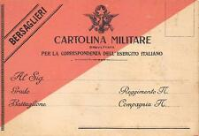 A5528) WW1 BERSAGLIERI, CARTOLINA MILITARE BREVETTATA.