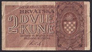 +Croatia, NDH, 1942, 2 Kuna