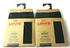 Levis Mens Cotton Stretch Underwear Briefs 2 pack 4 Total Black Grey Medium NR