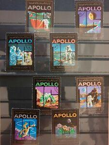 Ajman 1973 Airmail - Apollo 16 8 stamp set CTO