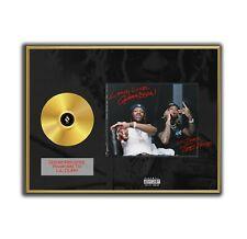 Lil Durk Poster The Voice GOLD/PLATINIUM CD, gerahmtes Poster HipHop Rap WallArt