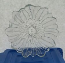 Indiana Carnival Glass Bowl Clear Candy Dish Sunflower Salad nicely detailed