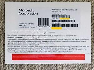 Microsoft Windows Server 2016 STANDARD 2CPU/16 cores BRAND NEW OEM PACK*********