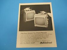 1964 Only from Admiral. New 13-inch Playmate, Big Picture Print Ad  PA007