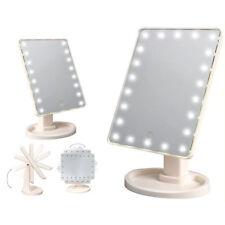 22 LED LUCE BIANCA illuminata Make Up Cosmetici Specchio bagno rasatura VANITY
