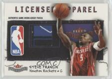 2003 Fleer Patchworks Licensed Apparel Jersey Tag /10 Steve Francis #La-Sf Patch