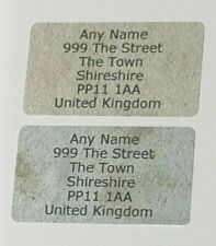 260 x Mini Vintage Papers Personalised Name & Address Sticky Labels Stickers