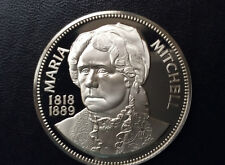 1973 Franklin Mint Maria Mitchell Silver Medal Societe Commemorative A1132