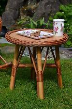 Weidenmöbel BAMBINO, Holz Kindertisch, Ø 40 x 42 cm hoch, Holztisch Gartentisch