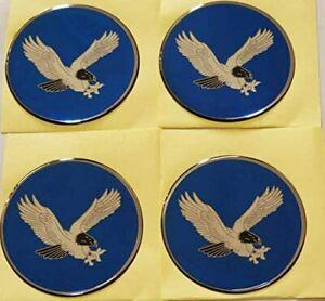 "4x EAGLE BIRD RACING Emblem Logo Wheel Rim Center Hub Cap Sticker Decal 2.75"""