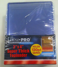 NIP Ultra Pro Box of 10 Thick Toploaders 3x4 130 points Jersey Cards Auto