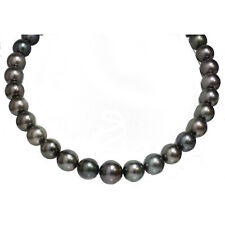 """Tahitian Pearl Necklace 16 - 13 mm black 18"""" 14kt gold clasp"""