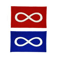2 METIS NATIVE pride FLAG PATCH Patches backpack BADGE IRON ON EMBROIDERED
