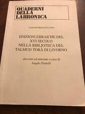 16th Century Italian Books From Library Of Talmud Torah Of Livorno