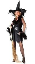 Womens Sexy Feather Witch Ladies Fancy Dress Costume UK Size 8-12 Hen Night