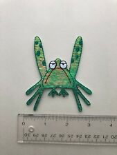 Green Grumpy Frog Holographic Iron-On Patch