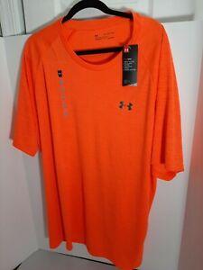 NEW Under Armour Men's UA Tech  T-Shirt Color ORANGE 3XL 1328190