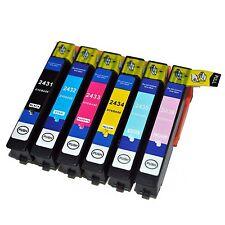 Ora INCHIOSTRO 6x compatibile T2438, Set per Epson 24lx alta capacità XL XP-750, XP-850,