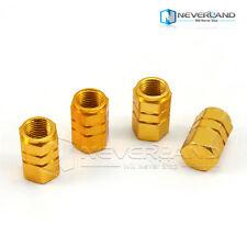 4X Gold Tappi Valvola Pneumatico Ruota Coprivalvole BLU Per AUTO MOTO BICI