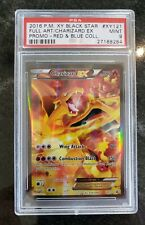 PSA 9 - Charizard EX - XY121- Full Art - Red Blue  Collection Promo Pokemon Card