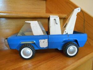 Vintage Buddy L Tow Truck metal blue white unique design US *shipping included!*