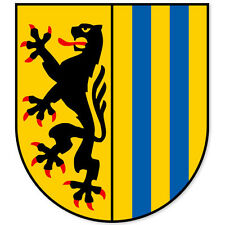"Leipzig Germany Coat of Arms bumper sticker 4"" x 5"""