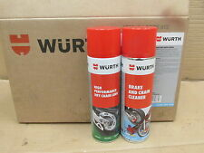 WURTH HIGH PERFORMANCE DRY CHAIN LUBE 500ML + MOTORBIKE BRAKE AND CHAIN CLEANER