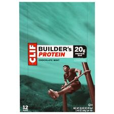 NEW CLIF BAR BUILDER'S PROTEIN Choc MINT HEALTHY NUTRITION FOOD NO TRANS FAT 68g