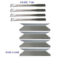 Nexgrill Red 4 Burner 720-0649 Replacement Gas Grill Burners, Ss Heat Plates